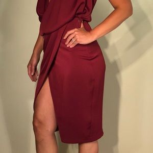 Asos maroon dress